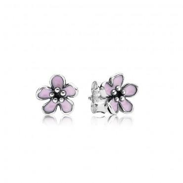 Orecchini fiori di ciliegio rosa
