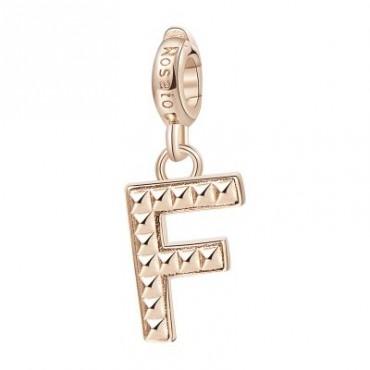 Lettera F Charm Rosato in argento 925‰, galvanica oro rosa