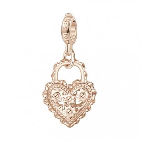 Lucchetto Charm Rosato in argento 925‰, galvanica oro rosa