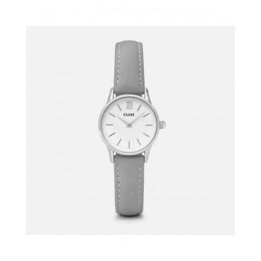Orologio Cluse Donna Silver La Vedette Al quarzo cassa da 24mm Argento / Silver in Acciaio quadrante Bianco cinturino in Pelle