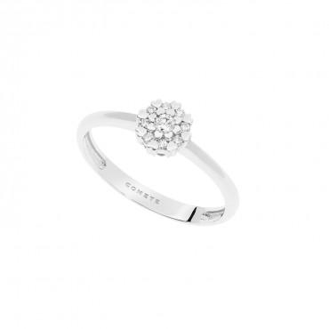 Anello in Oro bianco 750 ‰ . Diamanti P.Ct. 9 Col. G Purezza SI