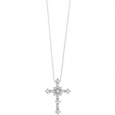 Collana Da Donna Di Comete Della Collezione Costellation. Girocollo In Oro Bianco 750 E Diamanti P. Ct. 19 Col. G Purezza Si. C