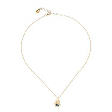 Collana donna handmade Unode50 in Argento Give me 5 collezione My Luck 12-14cm - COL1402AZUORO0U