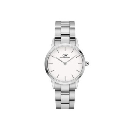 Orologio donna Daniel Wellinghton Iconic Link cassa 28mm in acciaio, quadrante bianco e cinturino bracciale a maglie Silver.