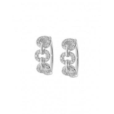 Orecchini cerchi donna Giorgio Visconti  40 Diamanti VSG 0,18