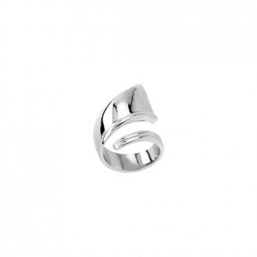 Anello Unode50 in lega metallica placcata in argento 15 micron, misure disponibili 15 e 18.