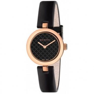 orologio femminile Gucci YA141501 - Quadrante con motivo diamante nero - Vetro zaffiro antigraffio con trattamento antiriflesso