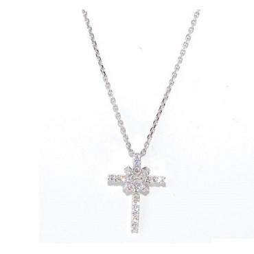 Collana donna Giorgio Visconti Croce con Diamanti  VSG 0,20