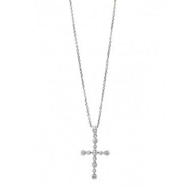 Collana donna Giorgio Visconti Croce con Diamanti VSG 0,32