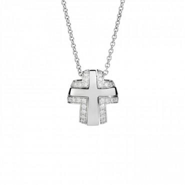 Collana Recarlo Croce Componibile in Oro e Diamanti Collezione Lucrezia 0,42 Ct