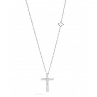 Collana Recarlo Croce con Diamanti Collezione Anniversary 0,70 Ct