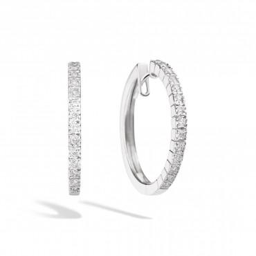 Orecchini Recarlo Cerchio con Diamanti Collezione Face Cube 0,25 Ct