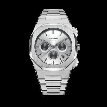 Orologio Uomo D1 Milano Charcoal grey Chronograph 41.5mm cassa Grigio quadrante Grigio cinturino in Acciaio Cronografo D1-CHBJ03