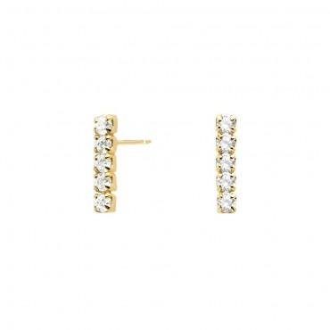 Orecchini PdPaola Oro Kira Daze Collection in Argento 925 Placcato Oro e Zirconi