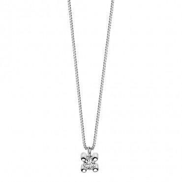 Collana Donna Punto Luce Comete Gioielli Collezione Griffe in Oro Bianco e Diamante