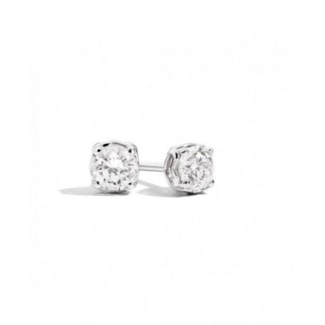 Orecchini Solitario Donna Recarlo Collezione Anniversary in oro bianco e diamante  Ct 0,27
