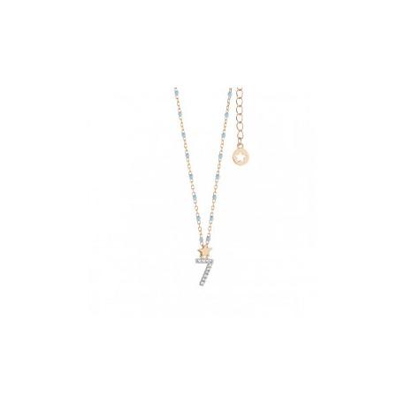 Collana Comete Collezione Stella Numeri in Argento, Rosè e Zirconi