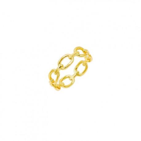 Anello Catena  Lauren P. Jewels in Argento Placcato Oro Giallo