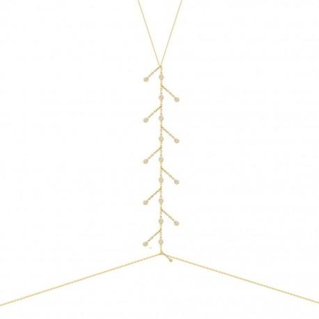 Body Chain Lauren P in Argento Placcato Oro giallo impreziosito da Pietre Solitari
