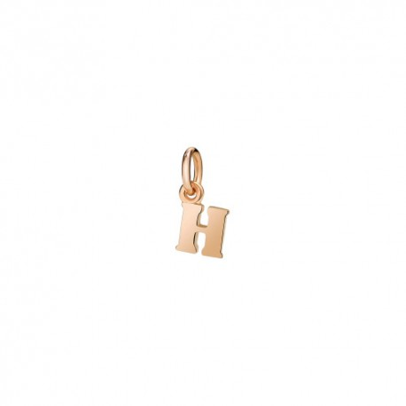Ciondolo Lettera H Dodo in Oro Rosa