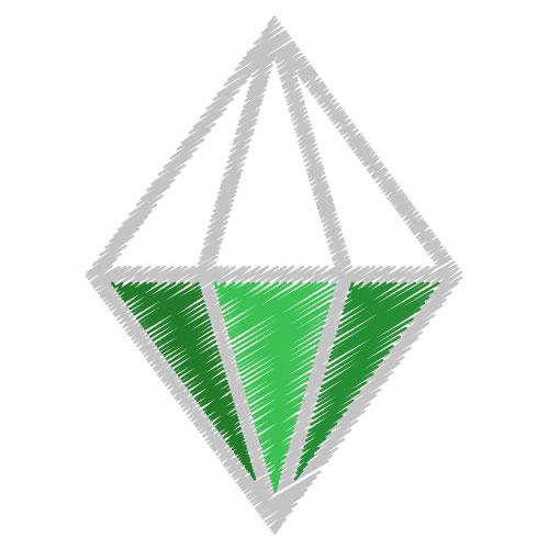 smeraldo da colorare
